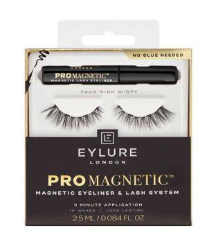 Faux Mink Wispy - Eylure - Pestañas postizas magnéticas con eyeliner Pro Magnetic.